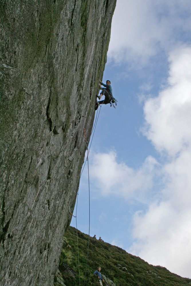 Jack Geldard leading Heart of Stone (E7 6b) 2007