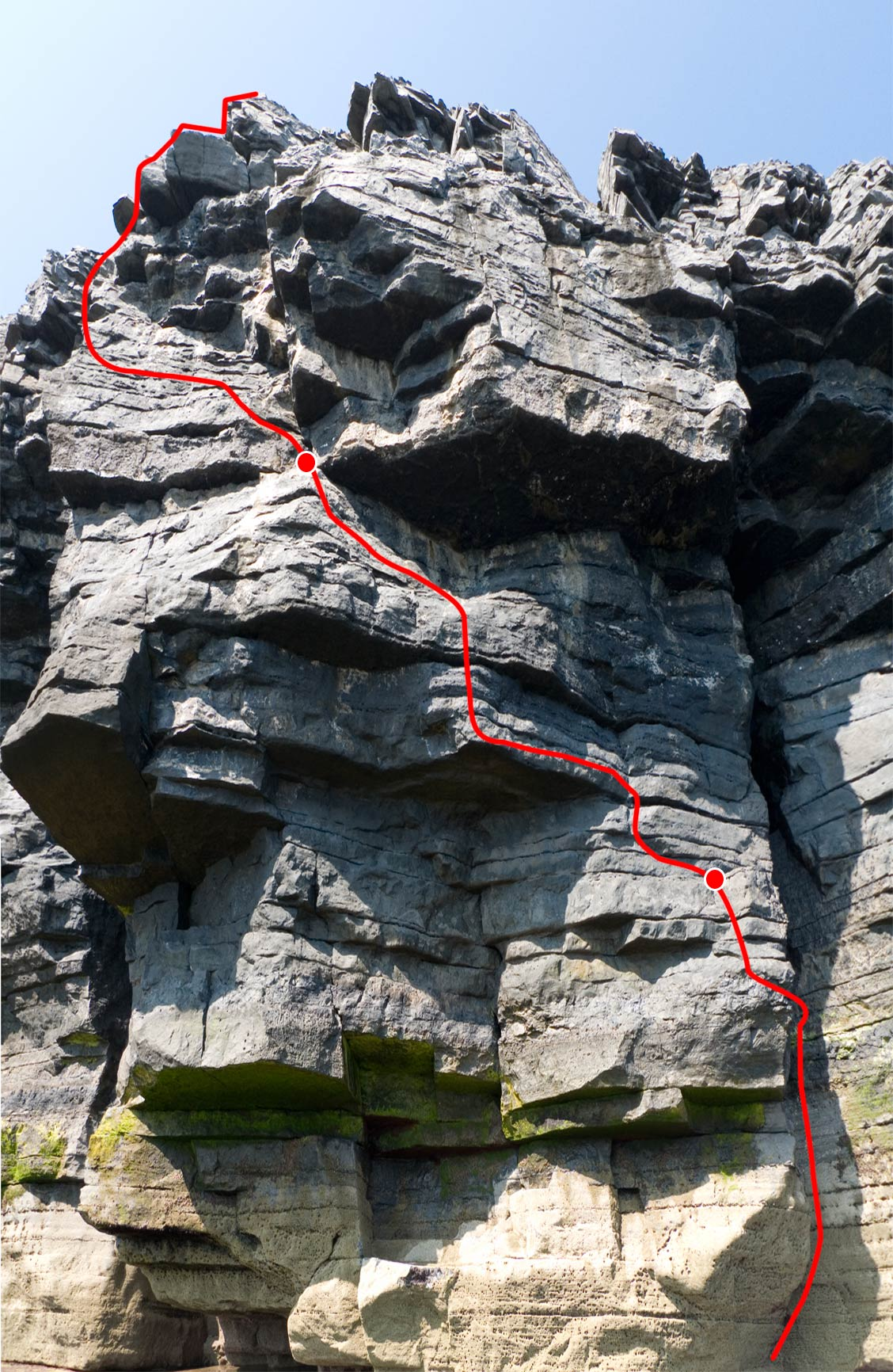 Jew-Pac, new route at Mt Sion East