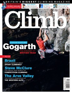 Jack Geldard on the front of Climb Magazine summer 2015