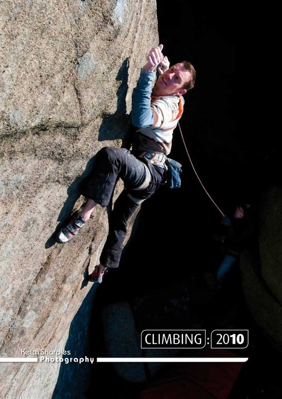 Jack Geldard on the front cover of the Climbing 2010 calendar © Keith Sharples