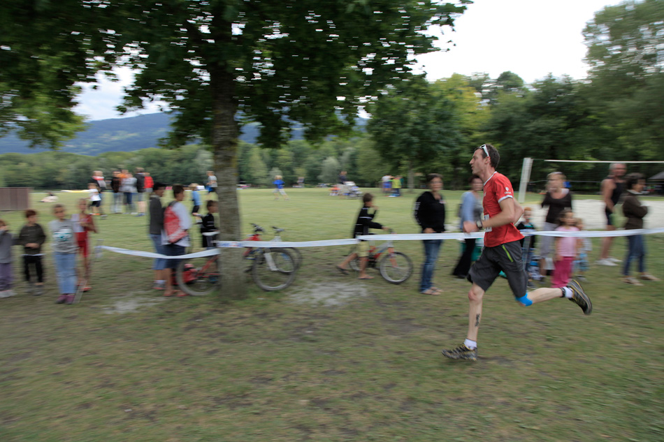 Me in the Mont Blanc Triathlon - 37:37 for 10k. Less pies next year!